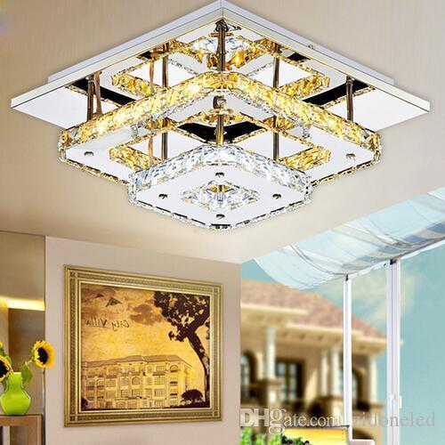 Luminaria de techo LED de cristal moderno para lámpara de techo de interior de lamparas de techo, montaje en superficie, lámpara de techo para dormitorio