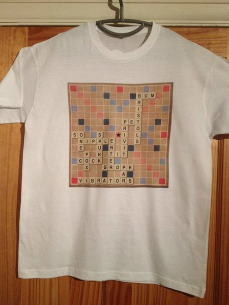 Steptoe and Son - Scrabble - Funny T Shirt (Men Of Letters / Rude) Free Shipping Summer Fashion Casual Short Sleeve Shirt Tee