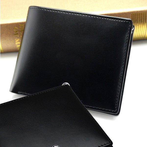 Portafoglio MB di lusso Portafogli in pelle da uomo Portafoglio classico Portafogli corto Portafoglio portafogli in carta di credito. Confezione regalo di alta qualità