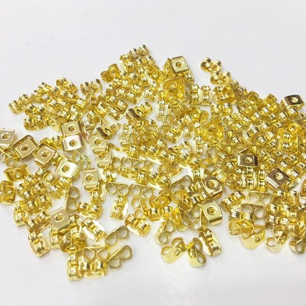 best selling 1000pcs lot Earrings set finfing earrings back Stopper stud Butterfly Plug Components brincos Jewelry making beads spacer Parts Accessories