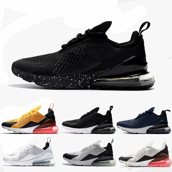 new product 19d41 3e2aa 2018 Air Vapormax 270 Running Shoes Outdoor Run Black White Sport Shock  Sneakers Women Men Chassures Designer Shoes Maxes Size 36 45 White Running  ...