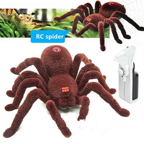 Halloween Remote Control 2CH Infrarosso Realistico RC Spider Toy Decoration Party Stage Puntelli Prank regalo elettronico pet giocattoli