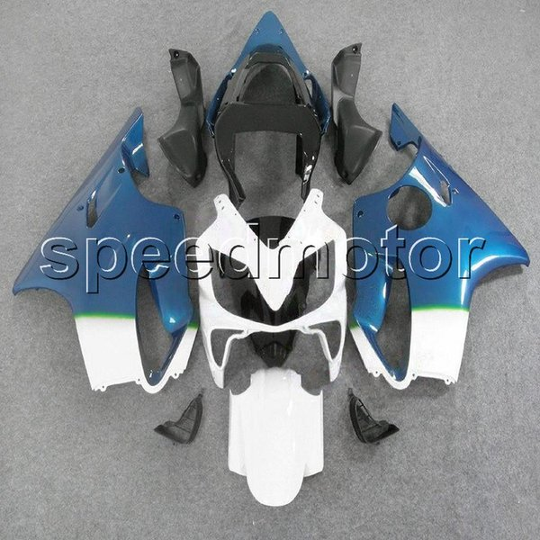 colors+Gifts Injection mold white blue CBR600 F4i 01-03 motorcycle cowl Fairing for HONDA CBR 600F4i 2001 2002 2003 ABS plastic kit