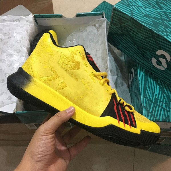 buy popular 6f3a3 09738 Cheap Kyrie 3 Kids Basketball Shoe Bruce Lee Top Quality Womens Kyrie  Irving Signature Sneakers Outdoor Sports Shoes With Box From Dropshipper ...
