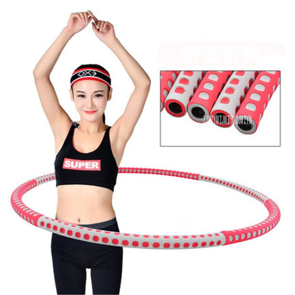 Wholesale- 1pc MLX888 96cm Removable Weight Loss Hard Tube Equipment Waist Slimming Fitness Hula Hoops Stainless steel tube Two Colors
