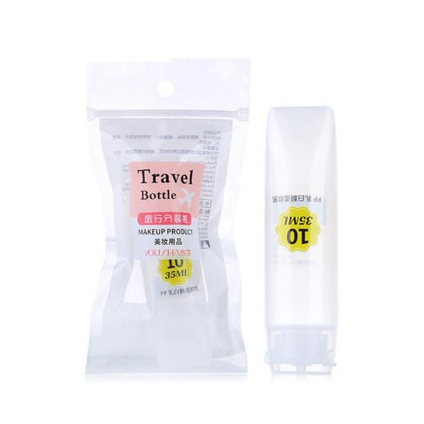 Flip Cover Bottiglie riutilizzabili Bottiglie portatili ricaricabili per lozione Shampoo Prodotto per il trucco