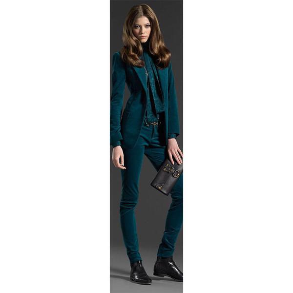 Popular 2 Piece Set Women Business Suits Job Ivterview Lady Trouser Suit Female Office Work B101