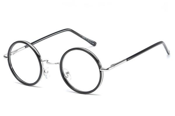 mens eyeglasses fashion Promo Codes - Glasses Frame Clear Lenses Eyeglass Frames Glasses Frame Eye Frames For Women Men Optical Mens Fashion Spectacle Round Designer Frame 8C1J04