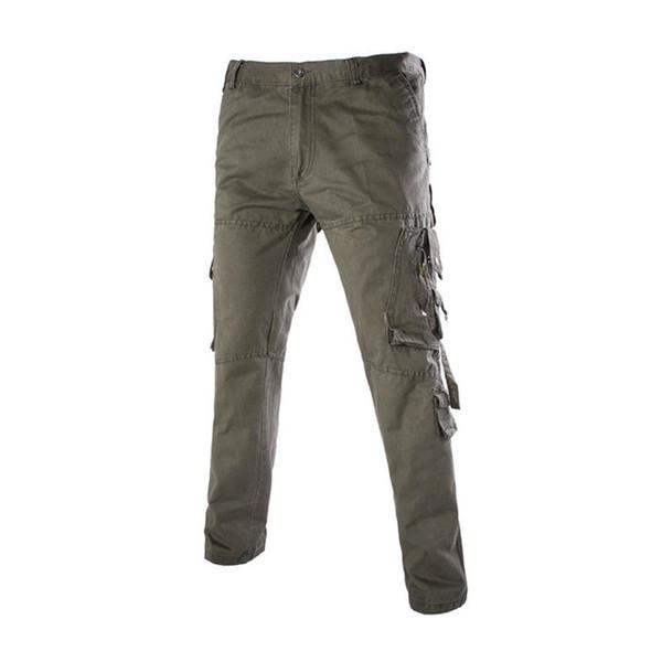 Pantalon cargo pleine longueur été 2016 pour hommes Commandos Styles Combinaison multi-poches tactique classique Pantalon décontracté