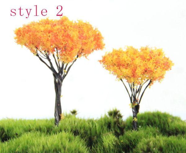 style 2 of 5cm yellow flower tree
