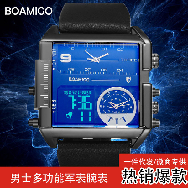 Direct selling sports men's watch electronic watch fashion square 0 waterproof watch