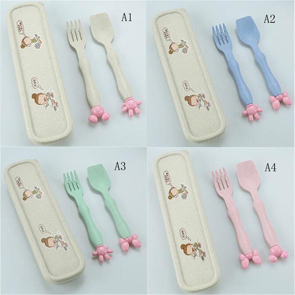 Utensils Baby Dinnerware Infant Spoons Flatware Tableware Feeding Forks Spoon Gadget