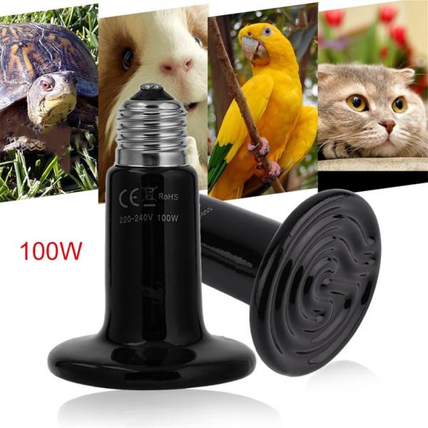 Lámpara de luz de bulbo de cerámica del emisor de calor de 25W / 50W / 100W Ninguna luz emitida para el criador de mascotas de la tortuga del reptil El mejor precio