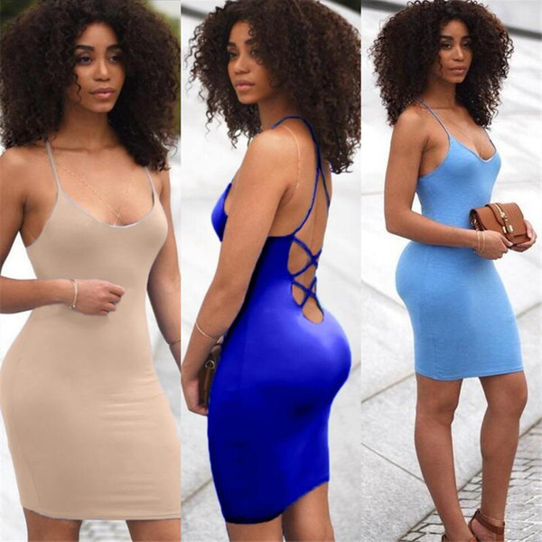 Hot Sale Short Cocktail Dresses Spaghetti Cheap Backless Party Gowns for Women Mini Club Wear Prom Gowns