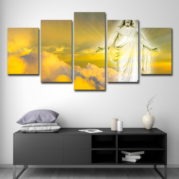 Modern Canvas Wall Art Pictures HD Printed Home Decor 5 Pieces Jesus Christ Paintings For Living Room Abstract Posters