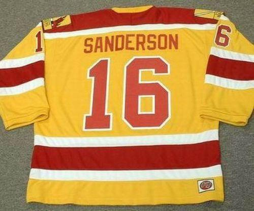 Wholesale Cheap DEREK SANDERSON Philadelphia Blazers 1973 WHA Vintage Hockey Jersey All Stitched Top-quality Any Name Any Number