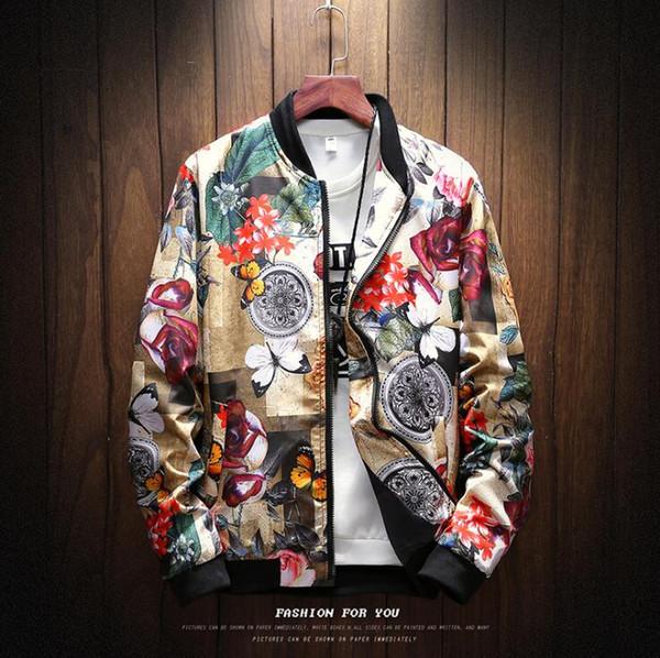 Großhandel 2018 Herbst Und Winter Kleidung Neue Männer Casual Jacke Mode Baseball Kragen Reißverschluss Strickjacke Große Größe Jacke Winddichte Jacke