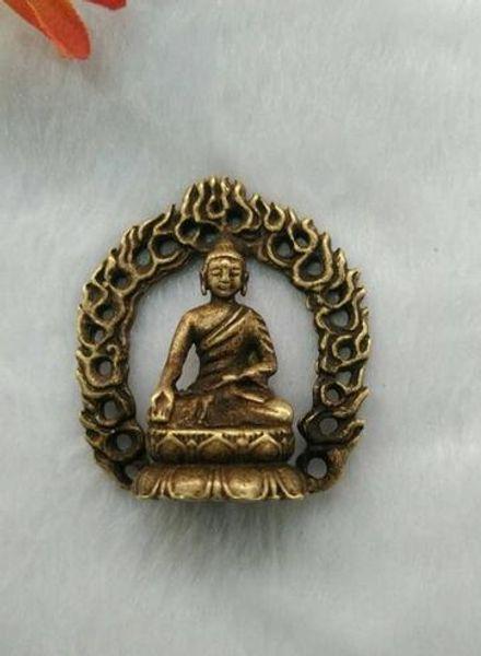 Antique Retro Messing Hintergrundbeleuchtung Buddha Anhänger Schlüsselanhänger Anhänger kleine Anhänger