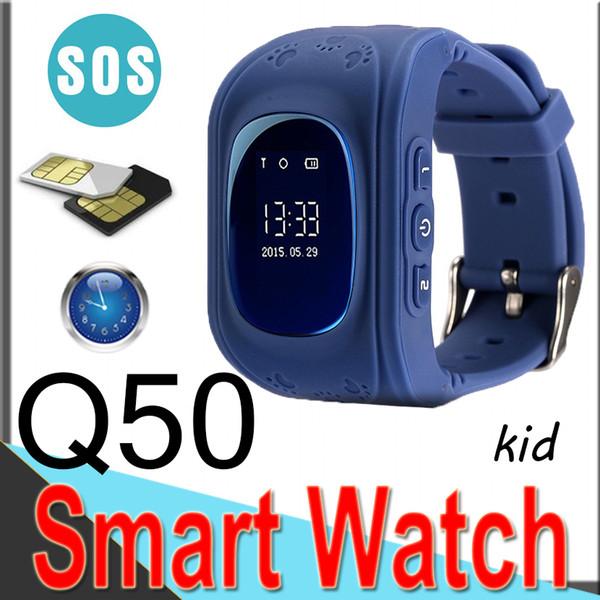 Q50 Kids LBS Tracker Niños Smart Watch Phone SIM Banda cuádruple GSM Safe SOS Call Q80 Android IOS Sim Card EQ5 50 paquetes