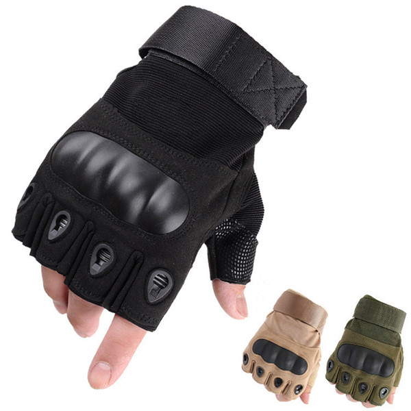 Bicycle Cycling Tactical Gloves for Men Shooting Half-finger Gloves Outdoor Sports Paintball Carbon Hunting Gloves mk631
