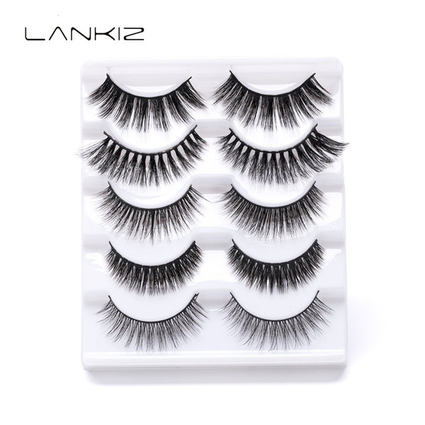 Faux Mink Eyelashes 3D False Lashes Thick HandMade Full Strip Lashes Cruelty False Eyelashes Support wholesale&single Sell