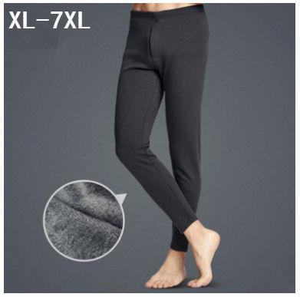 New 2017 winter men single layer thicken warm long johns supersize thermal underwear high waist pants plus size xl-5xl 6xl 7xl