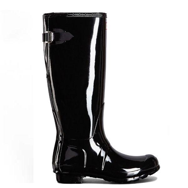 Stivali da pioggia da donna Stivali da pioggia in gomma alti stivali da pioggia alti lucidi opachi Stivali da pioggia Welly impermeabili