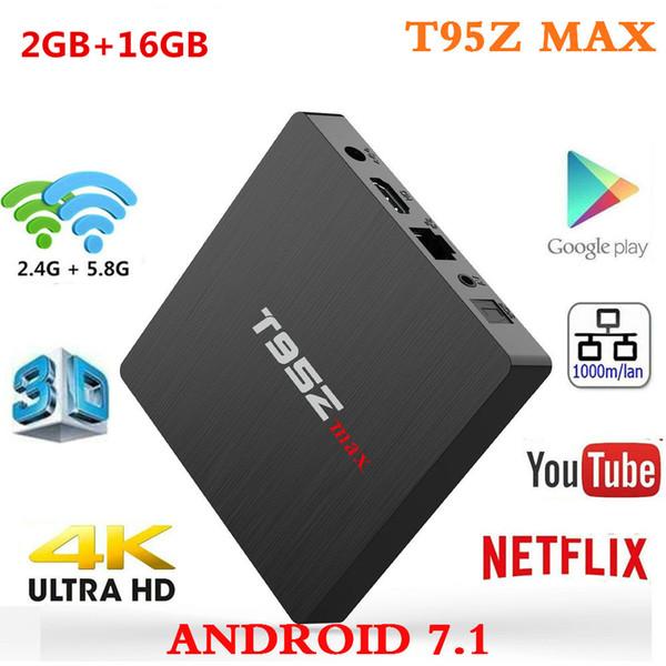 Android 7.1 tv box T95Z MAX 2gb 16gb Amlogic S912 Octa Core 2.4G 5G WIFI IPTV Media Player better MXQ PRO