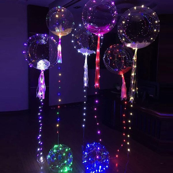 Explosive models 18-inch wave ball net red led light lanterns with lights wave ball for party decor (balloon+light string+battery box)