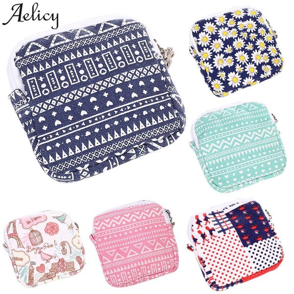 Aelicy bags for women New Style Girls Cute PrintCoin Purse Sanitary Pad Organizer Holder Napkin Towel Convenience Bags Wallet