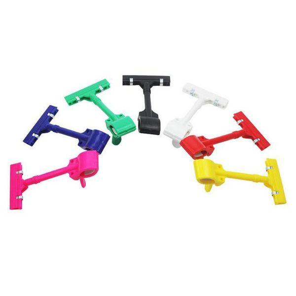 200pcs Plastic Advertising Thumb Pop Sign Clip Display Clamp Multicolor Clothing Folder Special Folder Holder Hook