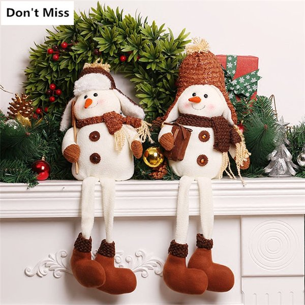 Christmas Decorations for Home 2pcs Snowman Christmas Dolls Ner Year Gift Snowman Doll Ornaments Navidad Decoraciones