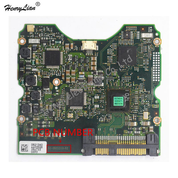 for HITICH HDD PCB /LOGIC BOARD/BOARD NUMBER: S1-0B21113-R2 /STICKERS: 0B21360
