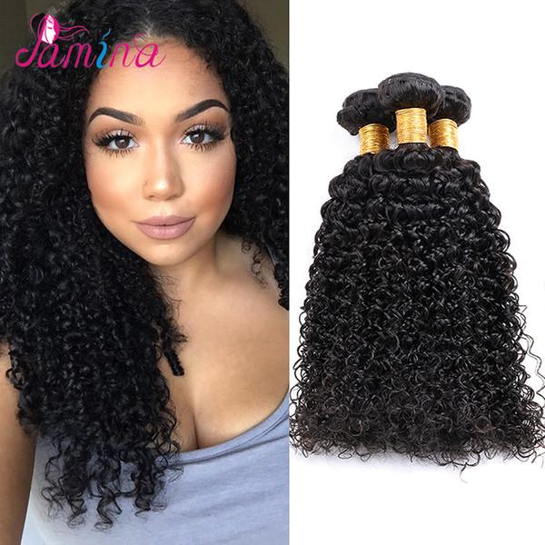 Filipino Virgin Hair Jerry Curly Human Hair Weave 3 Bundle Ms Lula Filipino Hair 8A Virgin Afro Kinky Curly Extensions 8-30