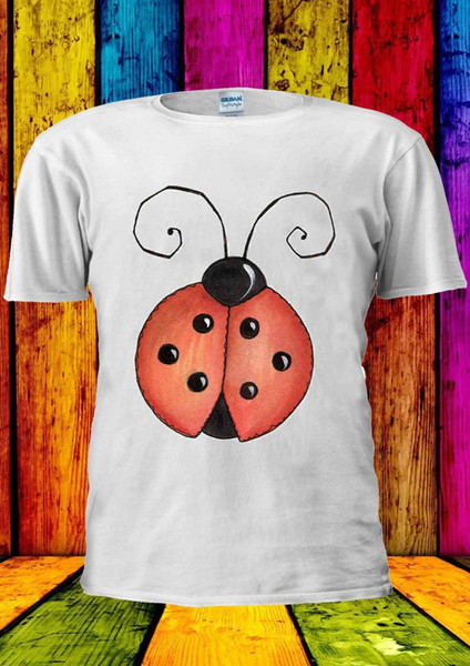 Ladybird bonito Lady BugLady Beetle T-shirt Das Mulheres Dos Homens do Tanque Top Unisex 1856