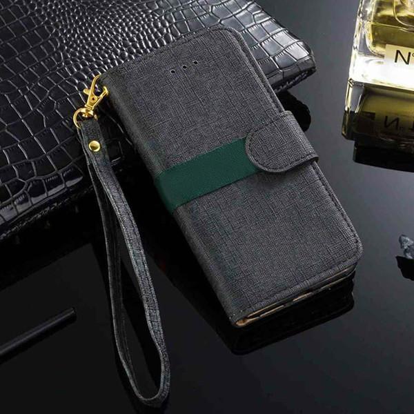 Etui portefeuille luxueux pour iPhone X XS Max Xr 8 7 6 s 6 plus coque en cuir PU Coque Etui pour Samsung Galaxy S9 S8 S7 Edge Note 9