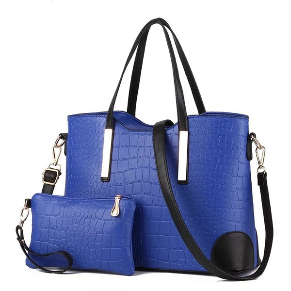 Woman Solid Color Office Lady Pu Leather Composite Bag Fashion Women Alligator Handbag Hot Sale High Capacity Female Tote Bags