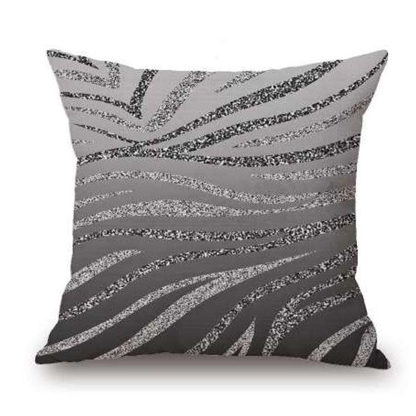 Cuscini Argento Mandala Federe Colorate Zebra Stripes Federe Cuscino Divano Lino Cuscino Home Decor Pillow Case All'ingrosso