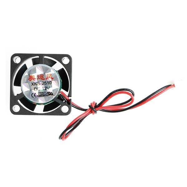 1 Pc DC 12V 0.12A 2-Pin 25x25x10mm PC Computer CPU System Brushless Cooling Fan 2510 Long Use
