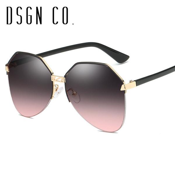 DSGN CO. Free Shipping 2018 Brand Sunglasses For Women And Men Classic Vintage Pilot Fashion Sun Glasses 5 Color UV400