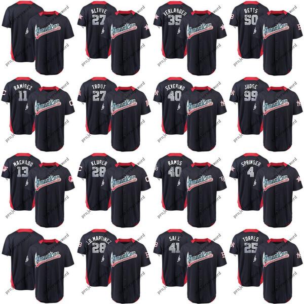 Mens American League Jersey Gleyber Torres George Springer Jose Ramirez Mike Trout Justin Verlander Aaron Judge 2018 All-Star Game Jerseys