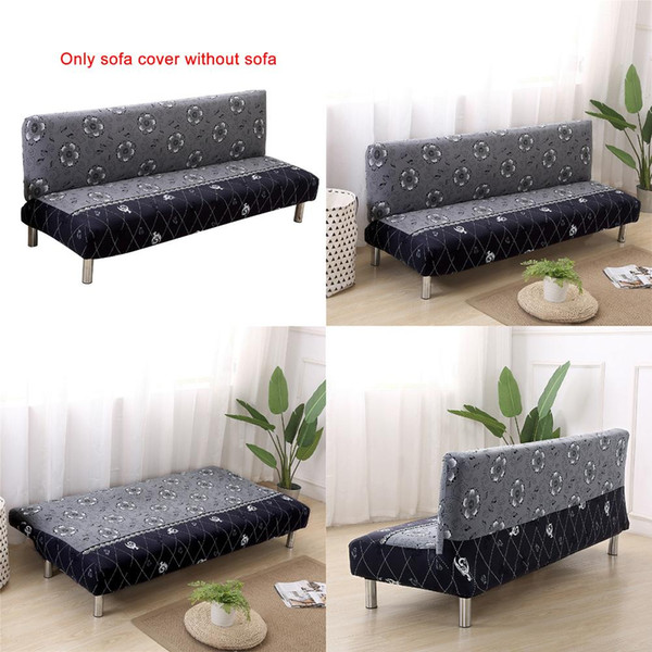 Cool Universal Size Armless Sofa Bed Cover Folding Seat Slipcovers Stretch Cheap Couch Protector Elastic Bench Futon Covers 5839 Gold Bedspread Matelasse Machost Co Dining Chair Design Ideas Machostcouk