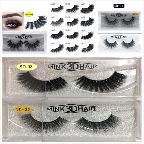 24 hour ship MINK eyelashes 11 styles Selling 1pair lot Real Siberian 3D Full Strip False Eyelash Long Individual Mink Lashes Extension