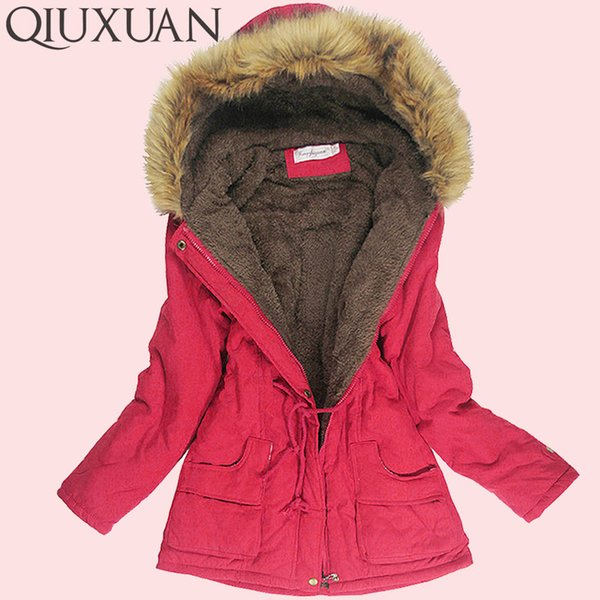 Winter Jacket Women Faux Fur Collar Womens Coats Long Down Parka Lady Hoodies Parkas Warmer Classical Jackets Size S-XXXL Y18102302