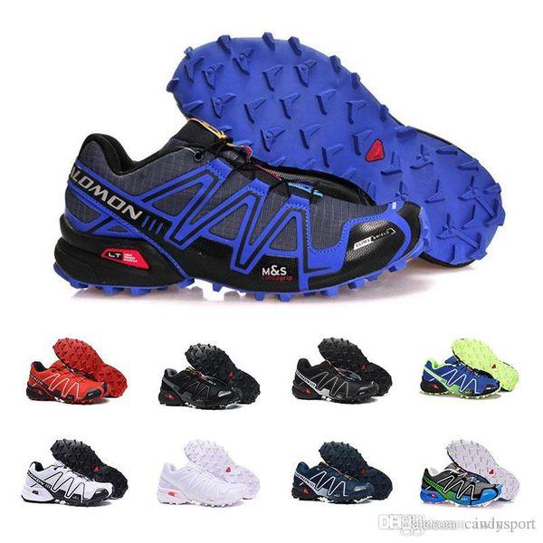 Großhandel Salomon Mit Box Salomon Speed Cross IV Speedcross 4 4s Trail Runner Dunkelrot Herren Laufschuhe Sportschuhe Fashion Sneaker Outdoor