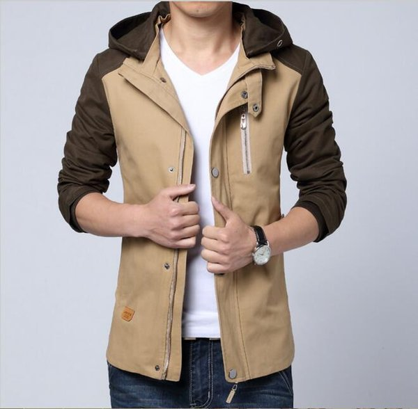 2017 new autumn winter warm military polo hooded patchwork men's jackets and coats mens casual Fashion hoodies sweatshirts 5XL