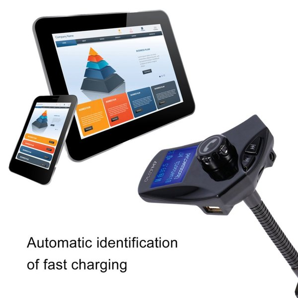 M7 1.5 inch Car Bluetooth Car Kit Handsfree 5V 2.1A Dual USB Charge Fast Aux Audio MP3 Player FM Transmitter Music Player