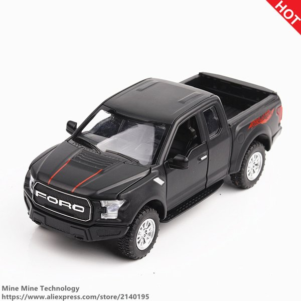 MINI AUTO 1:32 kids toys Ford F150 Pickup truck metal toy cars model for children music and light car gifts pull back for boys