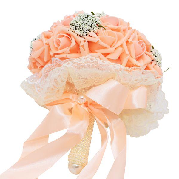 2020 Artificial Silk Flowers Bouquet Foam Roses Wedding Bouquet
