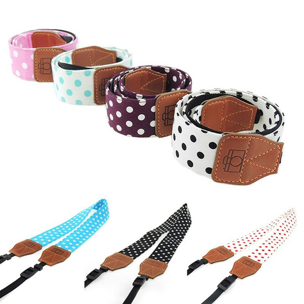 Mode Vintage Polka Dot Muster Kamera Gürtel Schulter Umhängeband für SLR / DSLR Kamera